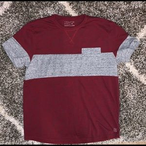American Eagle stripe pocket tee